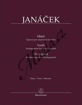 Janáček Leoš | Mládí - úprava pro smyčcové kvarteto | Set partů - Noty pro orchestr - BA11543.jpg