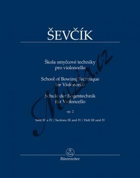 Ševčík Otakar | Škola smyčcové techniky pro violoncello op. 2, sešit III a IV | Noty pro orchestr - BA11548.jpg