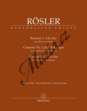 Rösler Johann Joseph | Koncert č. 2 Es dur pro klavír a orchestr | Klavírní výtah - Noty na klavír - BA11550-90.jpg