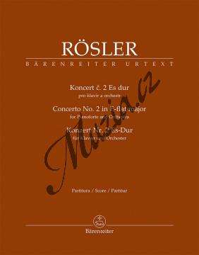 Rösler Johann Joseph   Koncert č. 2 Es dur pro klavír a orchestr   Partitura - Noty na klavír - BA11550.jpg