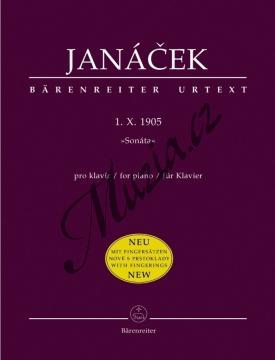 Janáček Leoš | Sonáta pro klavír  1.  X. 1905 | Noty na klavír - BA9501.jpg