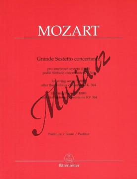 Mozart Wolfgang Amadeus | Grande Sestetto concertante (1808) podle Sinfonie concertante KV 364 | Partitura - Noty pro smyčcový sextet - BA9504.jpg