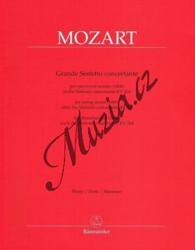 Mozart Wolfgang Amadeus | Grande Sestetto concertante (1808) podle Sinfonie concertante KV 364 | Set partů - Noty pro smyčcový sextet - BA9504a.jpg