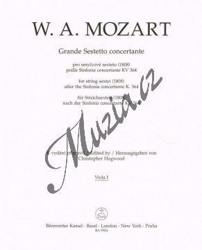 Mozart Wolfgang Amadeus | Grande Sestetto concertante (1808) podle Sinfonie concertante KV 364 | Part-Viola 1 - Noty pro smyčcový sextet - BA9504va1.jpg