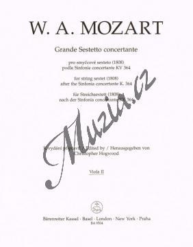 Mozart Wolfgang Amadeus | Grande Sestetto concertante (1808) podle Sinfonie concertante KV 364 | Part-Viola 2 - Noty pro smyčcový sextet - BA9504va2.jpg