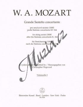 Mozart Wolfgang Amadeus   Grande Sestetto concertante (1808) podle Sinfonie concertante KV 364   Part-Violloncello 1 - Noty pro smyčcový sextet - BA9504vc1.jpg