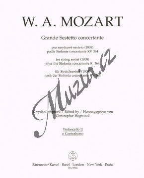 Mozart Wolfgang Amadeus | Grande Sestetto concertante (1808) podle Sinfonie concertante KV 364 | Part-Violloncello 2 - Noty pro smyčcový sextet - BA9504vc2.jpg