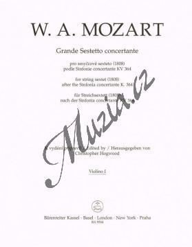 Mozart Wolfgang Amadeus | Grande Sestetto concertante (1808) podle Sinfonie concertante KV 364 | Part-Housle 1 - Noty pro smyčcový sextet - BA9504vn1.jpg