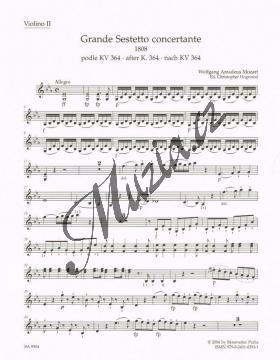Mozart Wolfgang Amadeus | Grande Sestetto concertante (1808) podle Sinfonie concertante KV 364 | Part-Housle 2 - Noty pro smyčcový sextet - BA9504vn2.jpg