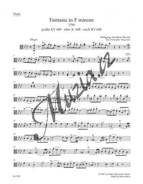 Mozart Wolfgang Amadeus | Fantasia in F minore pro smyčce podle Ein Orgelstück für eine Uhr KV 604 | Part-Viola - Noty pro orchestr - BA9505va.jpg