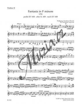 Mozart Wolfgang Amadeus | Fantasia in F minore pro smyčce podle Ein Orgelstück für eine Uhr KV 607 | Part-Housle 2 - Noty pro orchestr - BA9505vn2.jpg