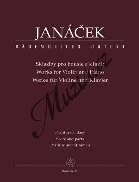 Janáček Leoš | Skladby pro housle a klavír | Noty na housle - BA9508.jpg
