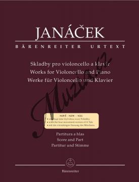 Janáček Leoš   Skladby pro violoncello a klavír   Partitura a party - Noty na violoncello - BA9509.jpg