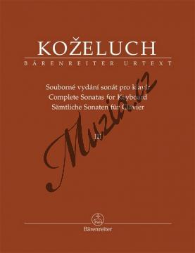 Koželuh Leopold | Souborné vydání sonát pro klavír 3. díl (Sonáty 25-37) | Noty na klavír - BA9513.jpg
