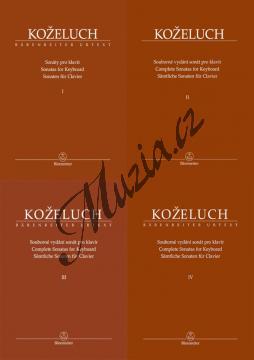 Koželuh Leopold | Souborné vydání sonát pro klavír - komplet 1.-4. díl (Sonáty 1-50) | Noty na klavír - BA9515-SET-KOMPLET.jpg