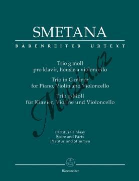 Smetana Bedřich   Trio g moll   Partitura a party - Noty pro klavírní trio - BA9518.jpg