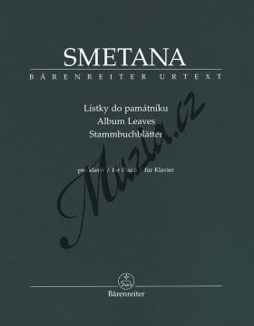 Smetana Bedřich | Lístky do památníku (pro klavír) | Noty na klavír - BA9525.jpg