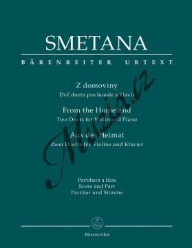 Smetana Bedřich | Z domoviny - Dvě dueta pro housle a klavír | Partitura a sólový part - Noty na housle - BA9526.jpg