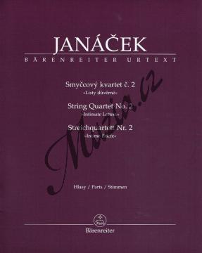 Janáček Leoš | Smyčcový kvartet č. 2 - Listy důvěrné | Set partů - Noty pro smyčcový kvartet - BA9533.jpg