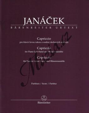 Janáček Leoš   Capriccio pro klavír levou rukou a soubor dechových nástrojů   Partitura a party - Noty-komorní hudba - BA9535.jpg