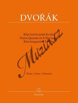 Dvořák Antonín | Klavírní kvartet Es dur opus 87 | Partitura a party - Noty pro Klavírní kvartet - BA9537.jpg