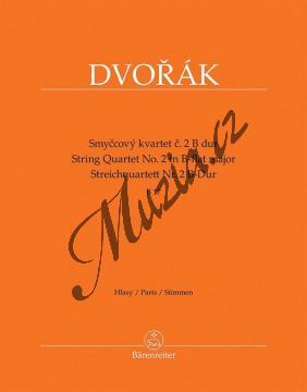 Dvořák Antonín | Smyčcový kvartet č. 2 B dur (B 17) | Set partů - Noty pro smyčcový kvartet - BA9540.jpg