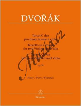 Dvořák Antonín | Tercet C dur op. 74 | Set partů - Noty pro smyčcové trio - BA9543.jpg