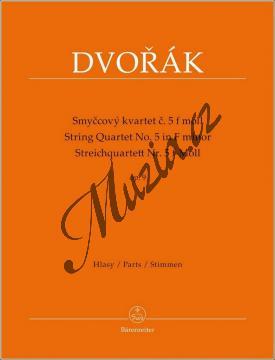 Dvořák Antonín | Smyčcový kvartet č. 5 f moll op. 9 | Set partů - Noty pro smyčcový kvartet - BA9545.jpg