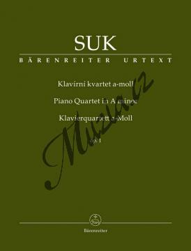 Suk Josef | Klavírní kvartet a moll opus 1 | Partitura a party - Noty pro Klavírní kvartet - BA9546.jpg