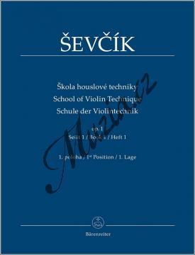 Ševčík Otakar | Škola houslové techniky op. 1, sešit 1 - 1. poloha | Noty na housle - BA9552.jpg
