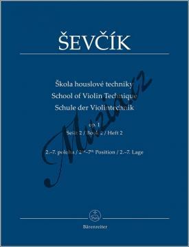 Ševčík Otakar | Škola houslové techniky op. 1, sešit 2 - 2.-7. poloha | Noty na housle - BA9553.jpg