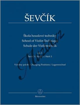 Ševčík Otakar | Škola houslové techniky op. 1, sešit 3 - výměny poloh | Noty na housle - BA9554.jpg