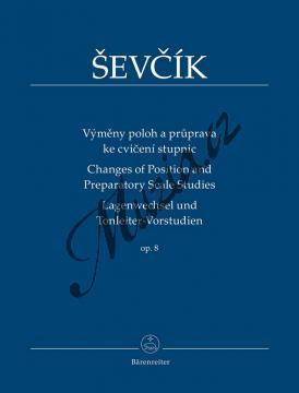 Ševčík Otakar | Výměny poloh a průprava ke cvičení stupnic Opus 8 | Noty na housle - BA9557.jpg