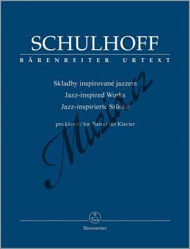 Schulhoff Erwin   Skladby inspirované jazzem   Noty na klavír - BA9559.jpg