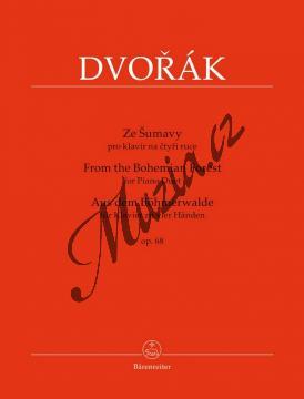 Dvořák Antonín | Ze Šumavy op. 68 pro klavír na čtyři ruce | Noty na klavír - BA9565.jpg