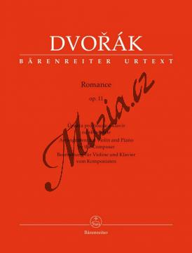 Dvořák Antonín   Romance op. 11 - úprava pro housle a klavír od skladatele   Noty na housle - BA9571.jpg