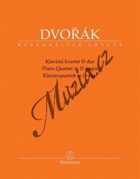 Dvořák Antonín | Klavírní kvartet D dur op. 23 | Partitura a party - Noty pro Klavírní kvartet - BA9574.jpg