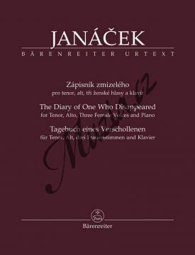 Janáček Leoš   Zápisník zmizelého pro tenor, alt, tři ženské hlasy a klavír   Noty pro sólový zpěv - BA9575.jpg