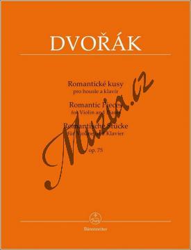 Dvořák Antonín   Romantické kusy op. 75   Partitura a sólový part - Noty na housle - BA9576.jpg