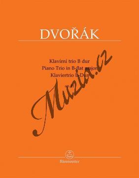 Dvořák Antonín | Klavírní trio B dur op. 21 | Partitura a party - Noty pro klavírní trio - BA9578.jpg