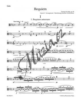 Dvořák Antonín   Requiem op. 89 - úprava pro sóla, sbor a komorní orchestr   Part-Viola - Noty pro sbor - BA9582-79.jpg