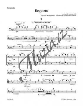 Dvořák Antonín | Requiem op. 89 - úprava pro sóla, sbor a komorní orchestr | Part-Violoncello - Noty pro sbor - BA9582-82.jpg