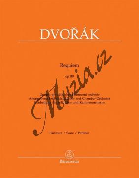 Dvořák Antonín   Requiem op. 89 - úprava pro sóla, sbor a komorní orchestr   Partitura - Noty pro sbor - BA9582.jpg