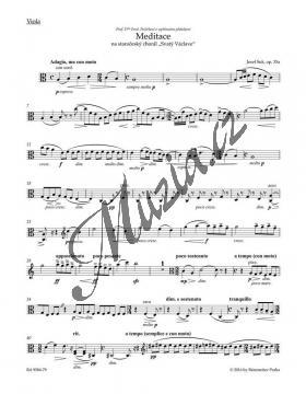 Suk Josef   Meditace na staročeský chorál Svatý Václave op. 35a pro smyčcový orchestr   Part-Viola - Noty pro orchestr - BA9584-79.jpg