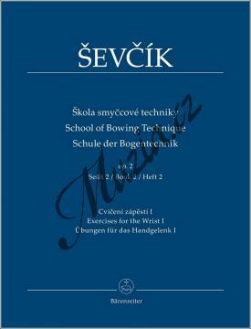 Ševčík Otakar | Škola smyčcové techniky - opus 2, sešit 2 - Cvičení zápěstí I | Noty na housle - BA9592.jpg