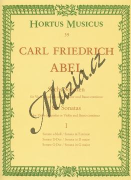 Abel Karl Friedrich | Sechs Sonaten für Viola da gamba (Violine, Flöte) und Basso continuo. Heft 1 - Provozovací partitura a party | Noty na violu da gamba - BAHM39.jpg
