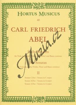 Abel Karl Friedrich | Sechs Sonaten für Viola da gamba (Violine, Flöte) und Basso continuo. Heft 2 - Provozovací partitura a party | Noty na violu da gamba - BAHM40.jpg