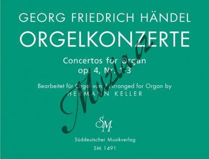 Händel Georg Friedrich   Orgelkonzerte für Orgel allein mit Pedal. Heft 1 op. 4 - Provozovací partitura a party   Noty na varhany - BASM1491.jpg