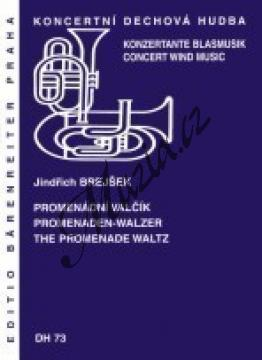 Brejšek Jindřich   Promenádní valčík   Partitura, set partů a řídící hlas - Noty pro dechovou hudbu - DH73.jpg