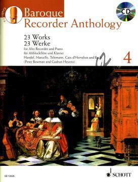 Album | Baroque Recorder Anthology Vol. 4 - (+CD) | Noty na zobcovou flétnu - ED13325.jpg
